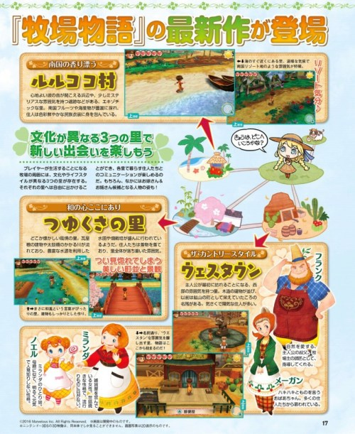 Story of Seasons: Good Friends of Three Villages (Famitsu Magazine)