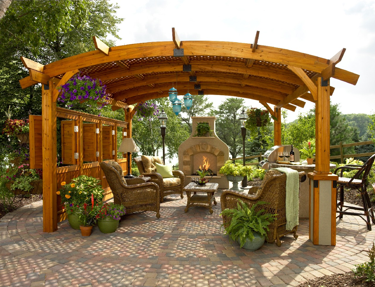 Stylish Pergola Ideas for Your Home - Pool Quest on Covered Pergola Ideas  id=56848
