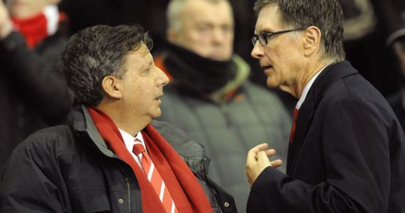 Liverpool owners Tom Werner (L) and John Henry