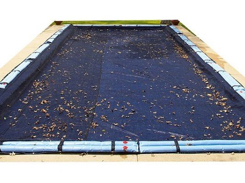 Blue Wave Bronze 8-Year 20-ft x 40-ft Rectangular In Ground Pool Winter Cover With Leaf Nets