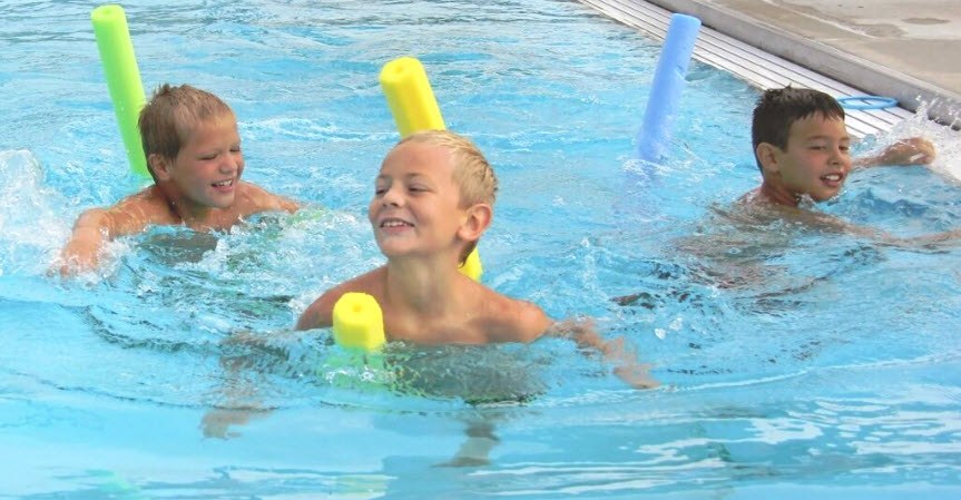 swimming pool games - noodles