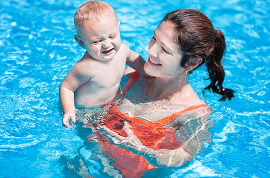 swimming lessons for babies at home
