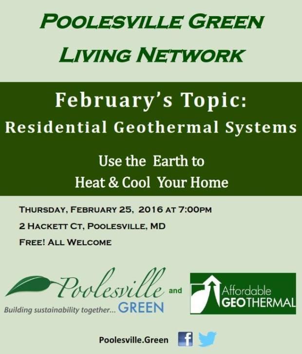 Poolesville GreenGreen Living Network - GeoThermal