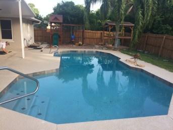 pool fence oviedo - before