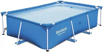 Bestway Steel Pro 8.5' x 5.6' x 2' Rectangular Above Ground Swimming Pool