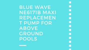 Blue Wave NE6171B Maxi Replacement Pump for Above Ground Pools