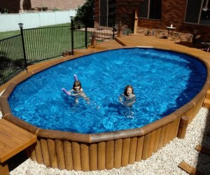 Stunning Pools with Deck and White Gravel