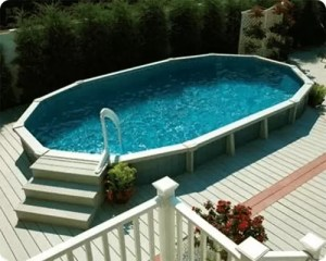 Half Submerged Pool with Composite Deck