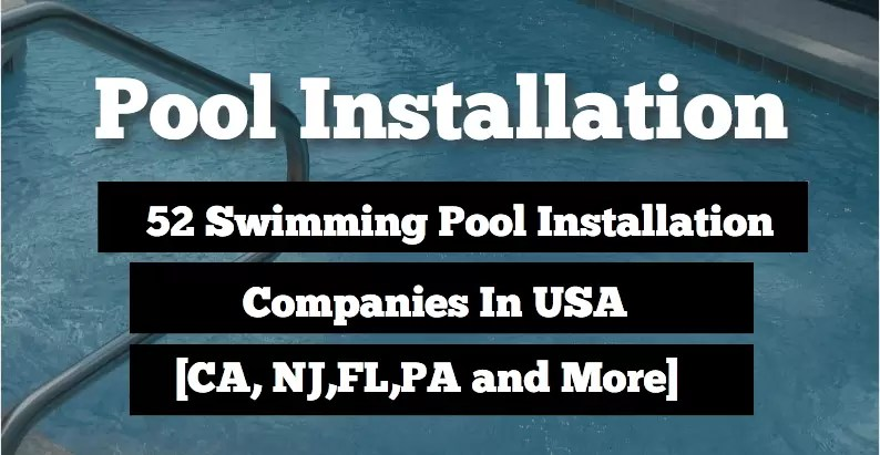 swimming pool installation companies