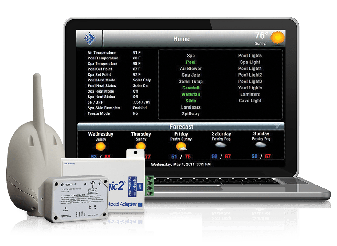 ScreenLogic2® Interface For IntelliTouch® and EasyTouch® Automation Systems