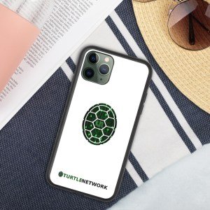 Biodegradable Turtle Network white phone case