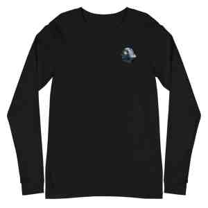 Mechanical Bitcoin Moon Unisex Long Sleeve Tee
