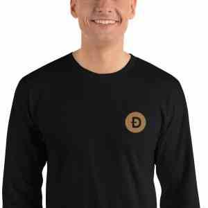 Dogecoin Logo Long sleeve t-shirt