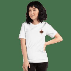 Dogecoin Robot Heart Short-Sleeve Unisex T-Shirt