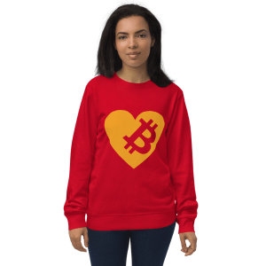 Love Bitcoin Unisex organic sweatshirt
