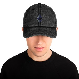 Ethereum Logo Vintage Cotton Twill Cap