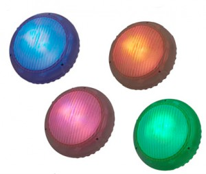 mulit coloured LED underwater lights