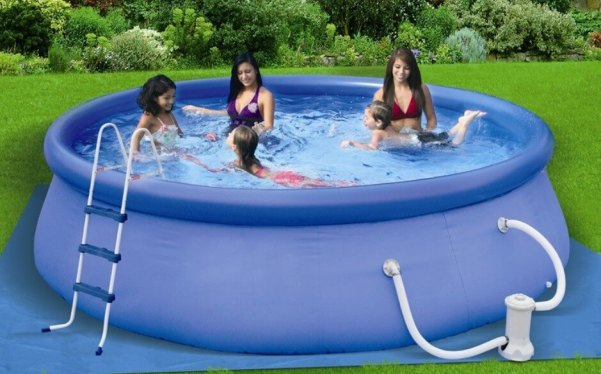 Intex swimming pools reviews filter choices information for Swimming pool gallons calculator