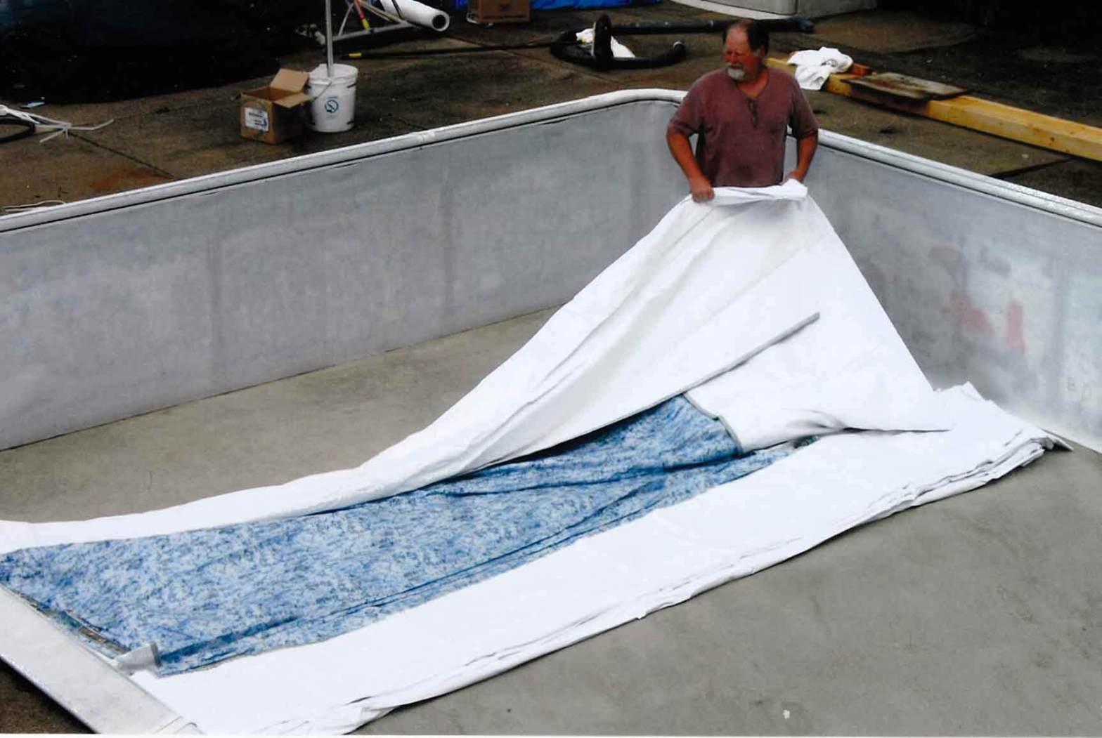 inground pool liner replace