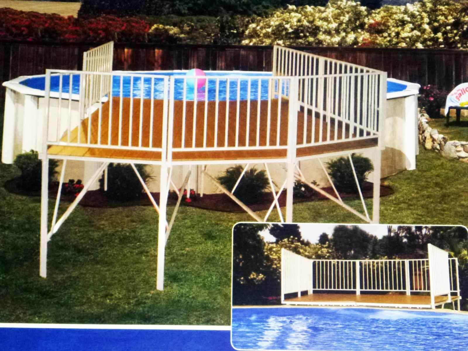 Above Ground Pool Deck Cost Inexpensive Deck Options