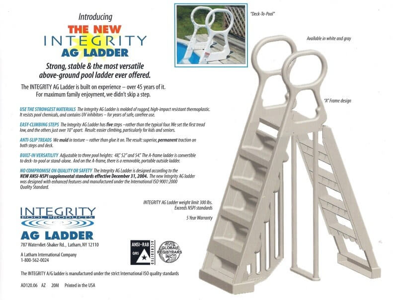 Steps - Ladders Above-Ground Pool Reviews and Information