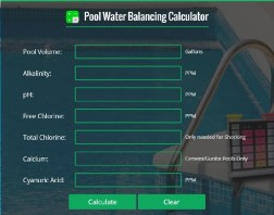 Pool water balance calculator
