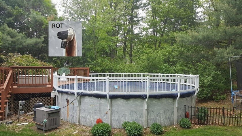 Rusty above ground pool