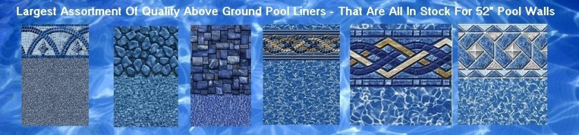 above ground pool liner samples