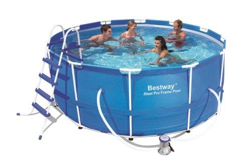 Bestway 56087US Steel Pro Frame Pool Set, 12-Feet by 48-Inch