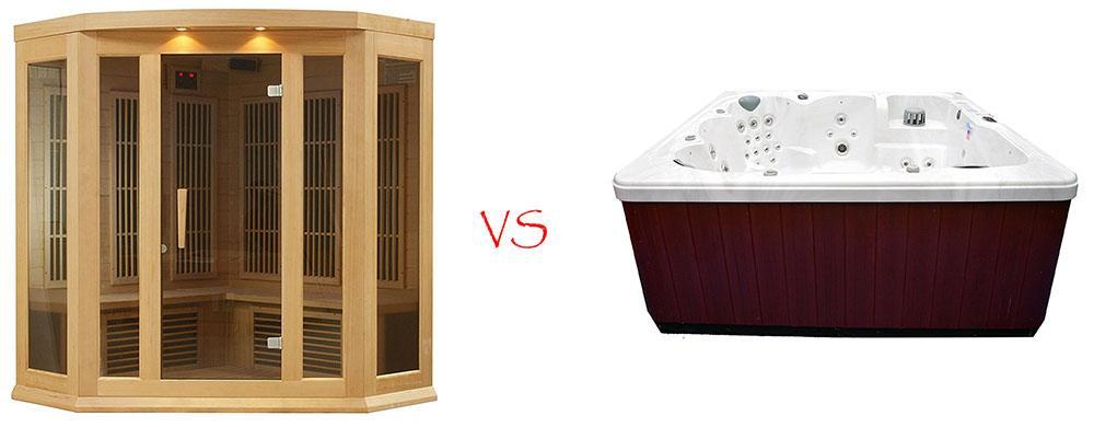Sauna vs Hot tub