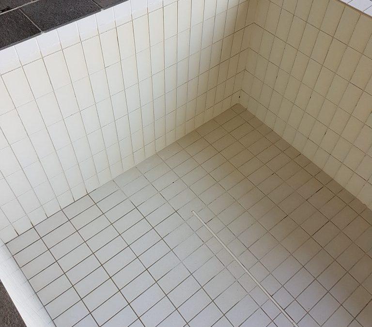 tiled swimming pool repair re grout