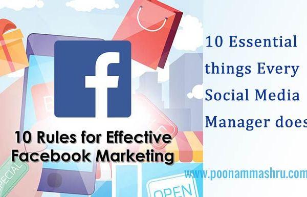 essential things to do for facebook marketing at poonam mashru blog