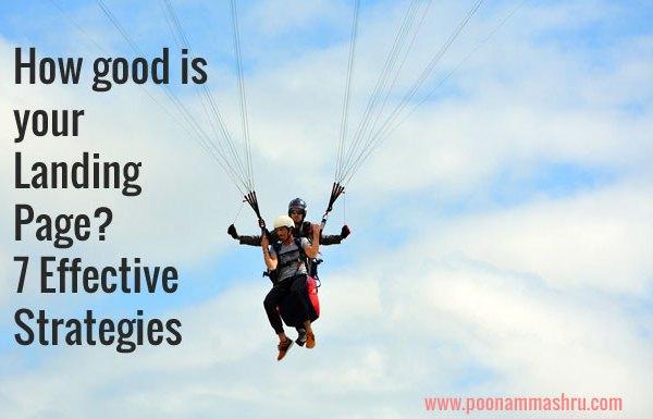 landing page strategies poonam mashru blog
