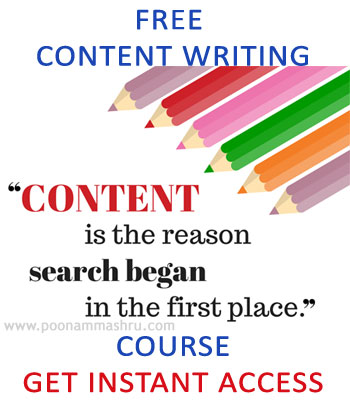 content writing course poonam mashru