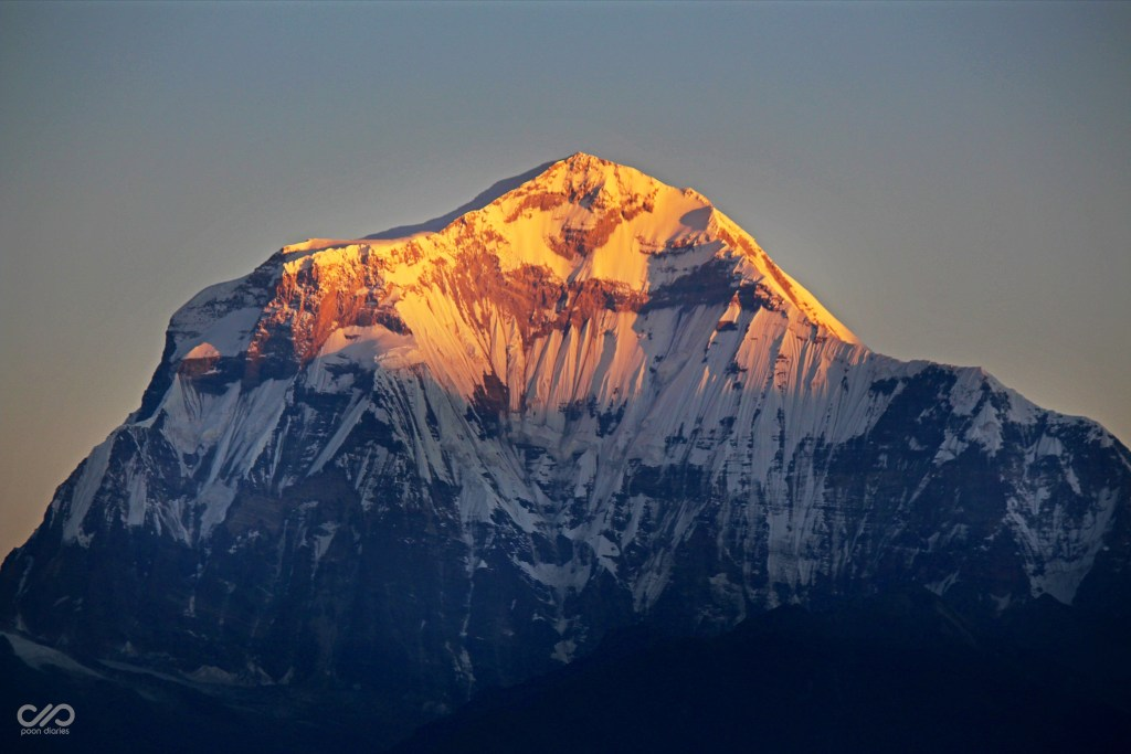 Dhaulagiri with the first rays of sunlight