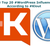 2013 Top 20 #WordPress Influencers According to #Klout