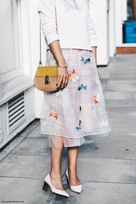 London_Fashion_Week-Spring_Summer_16-LFW-Street_Style-Collage_Vintage-Midid_Skirt-Drew_Bag_Chloe-
