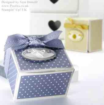 Stampin Up UK Short Fat Candle Gift Box 4