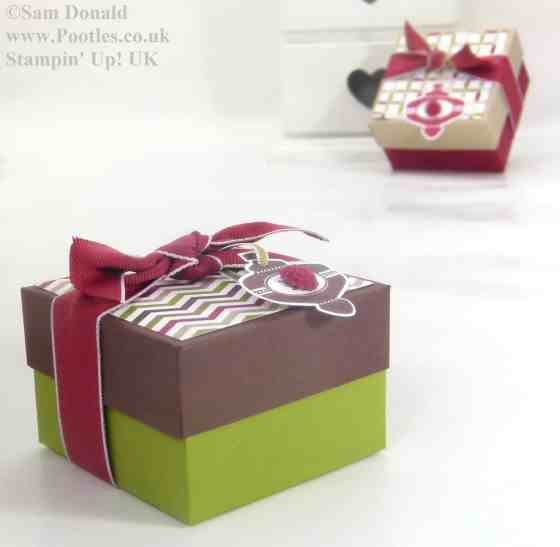 POOTLES Stampin Up UK ADVENT COUNTDOWN 5 Lidded Box VIDEO 3