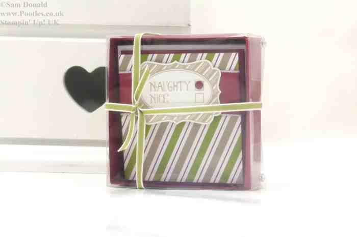 POOTLES Stampin Up UK Advent Countdown 6 Card Box and Acetate Lid 2