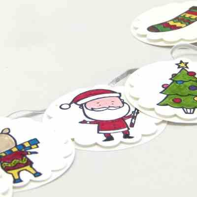 ADVENT COUNTDOWN 24 Mini Christmas Banners