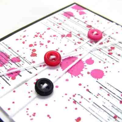 Pootles' Brights Week Gorgeous Grunge Button Card