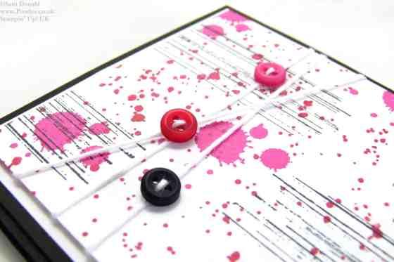 POOTLES Stampin Up UK Brights Week Gorgeous Grunge Button Card
