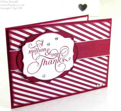 POOTLES Stampin Up UK Cherry Cobbler Million and One Thanks 2