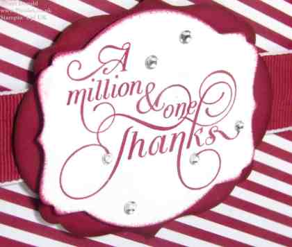 POOTLES Stampin Up UK Cherry Cobbler Million and One Thanks