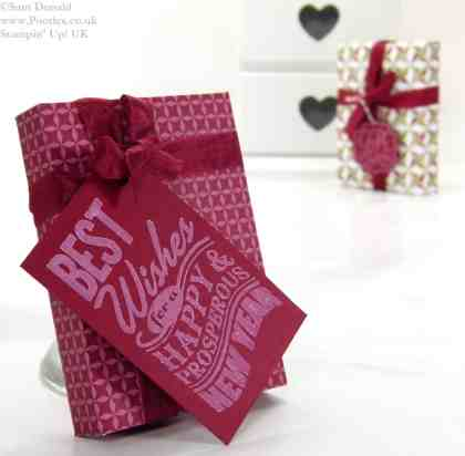 POOTLES Stampin Up UK New Years Shortbread Gift using Envelope Punch Board 3