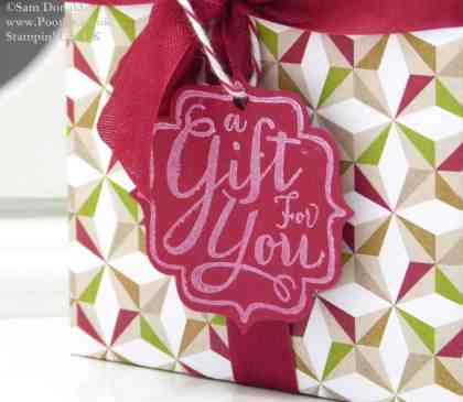 POOTLES Stampin Up UK New Years Shortbread Gift using Envelope Punch Board