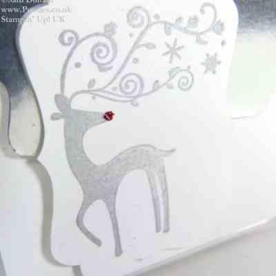 Silver Foil Mini Christmas Card