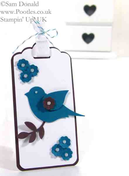 POOTLES Stampin' Up! UK Bird Builder Punch meets the Scalloped Tag Topper Punch! 2