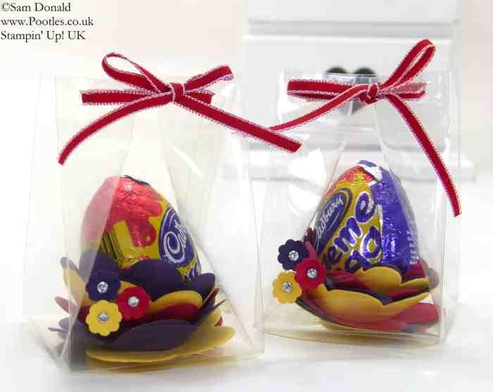 POOTLES Stampin' Up! UK Easter Egg Flower Die Clear Box Tutorial